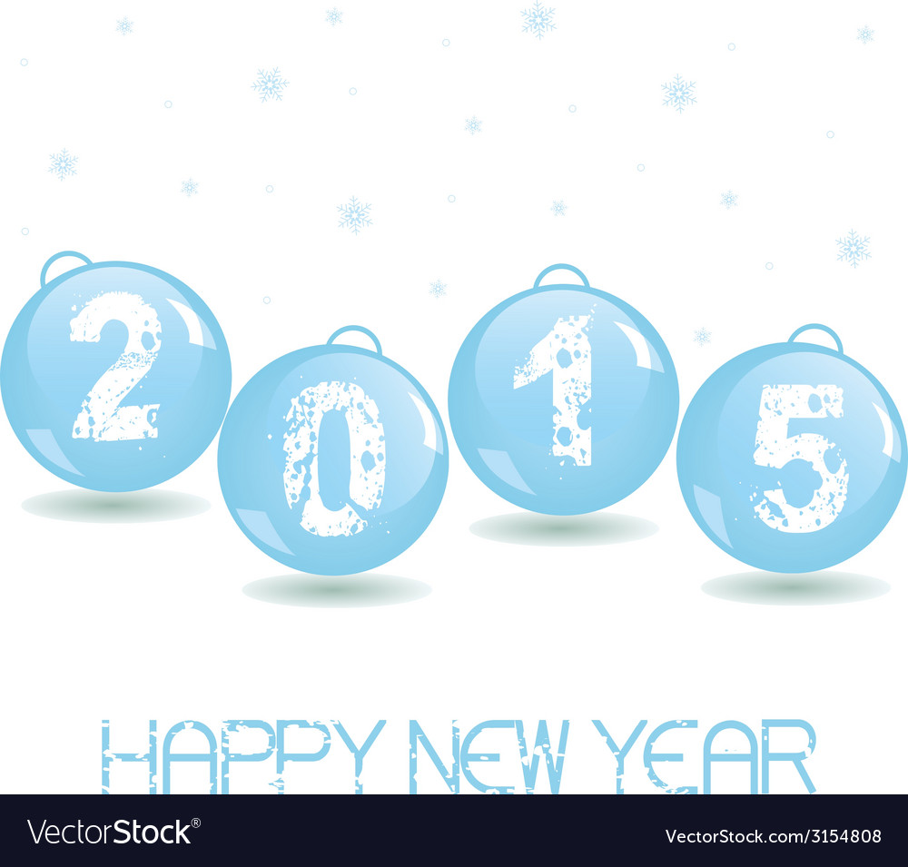 New year glass baubles vector | Price: 1 Credit (USD $1)