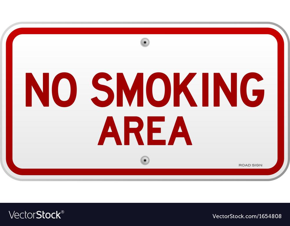No smoking area notice vector | Price: 1 Credit (USD $1)