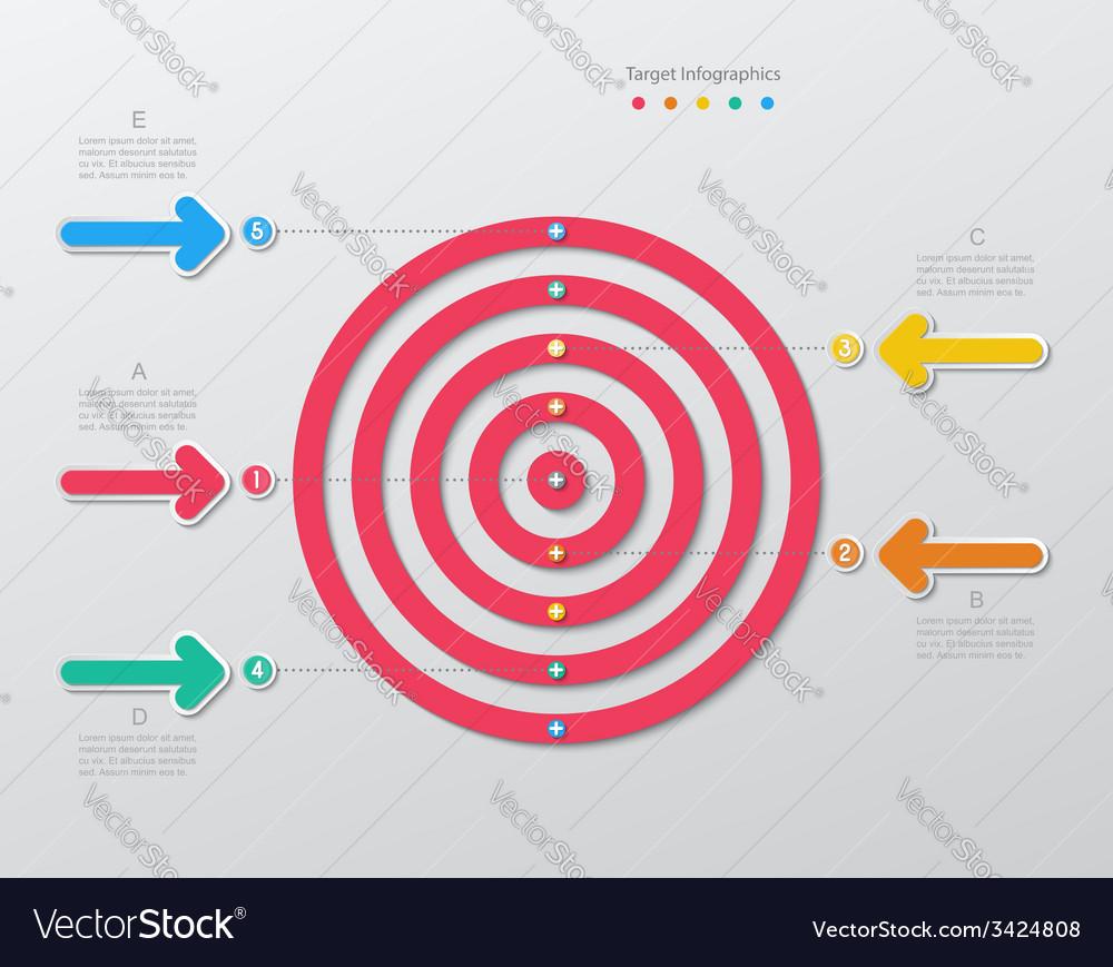 Paper target infographics vector | Price: 1 Credit (USD $1)