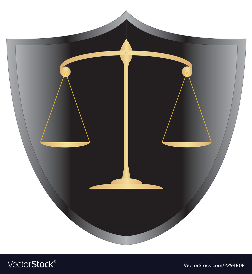 Scales of justiceshield 1 v vector | Price: 1 Credit (USD $1)