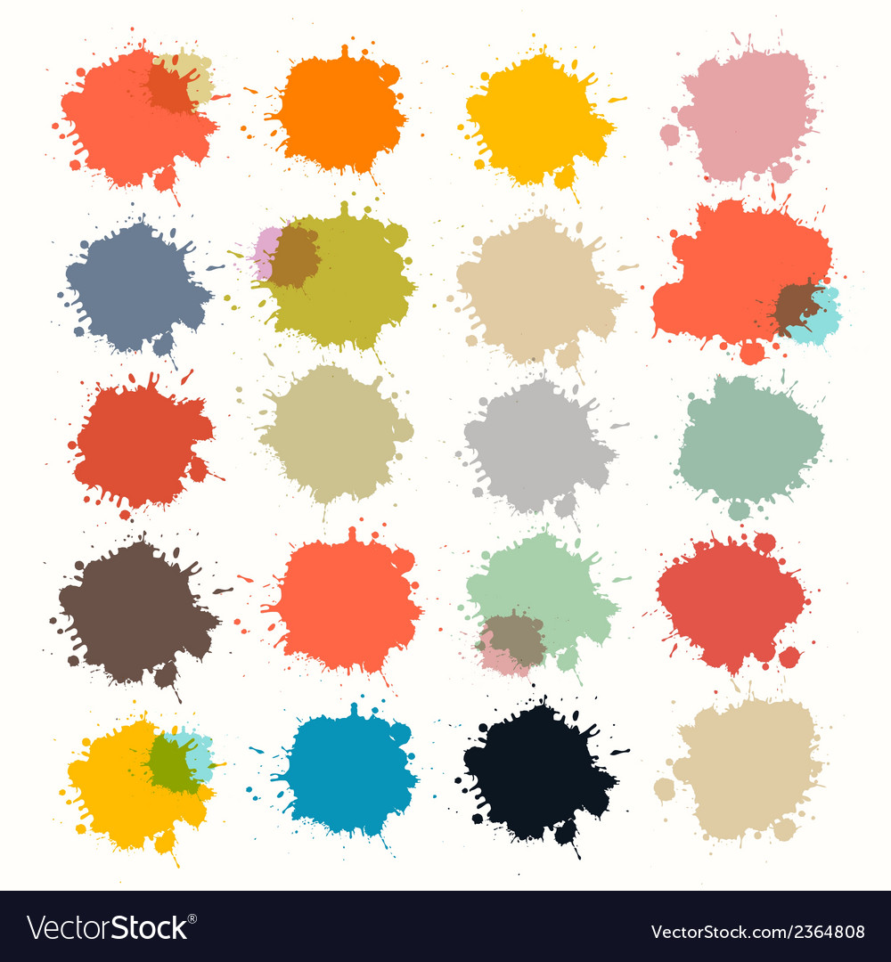 Transparent colorful retro stains blots splashes vector | Price: 1 Credit (USD $1)
