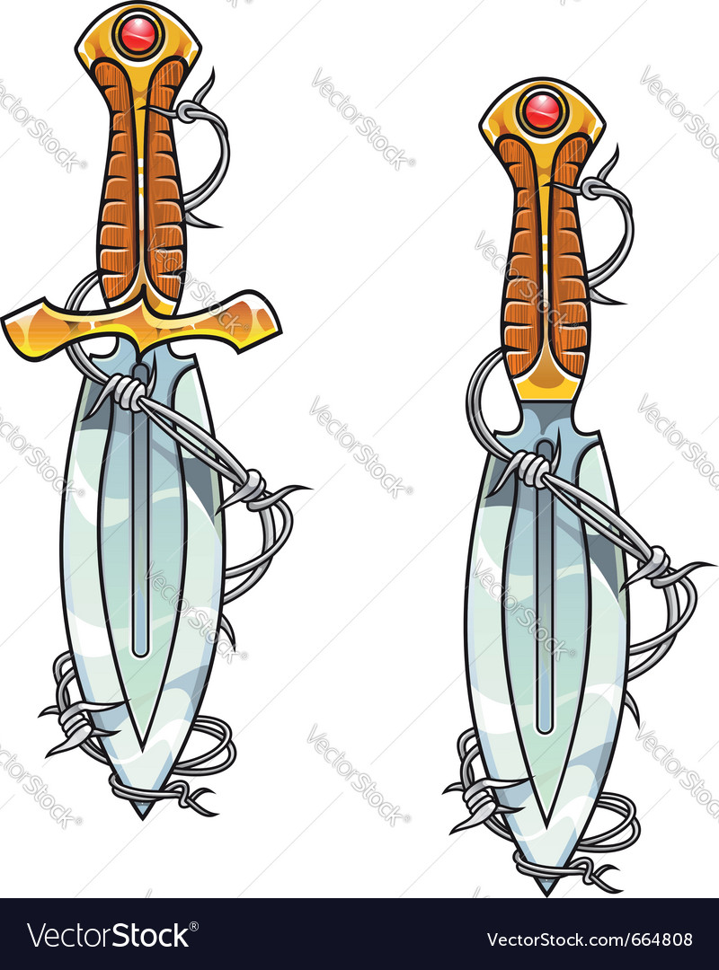 Vintage dagger vector | Price: 1 Credit (USD $1)