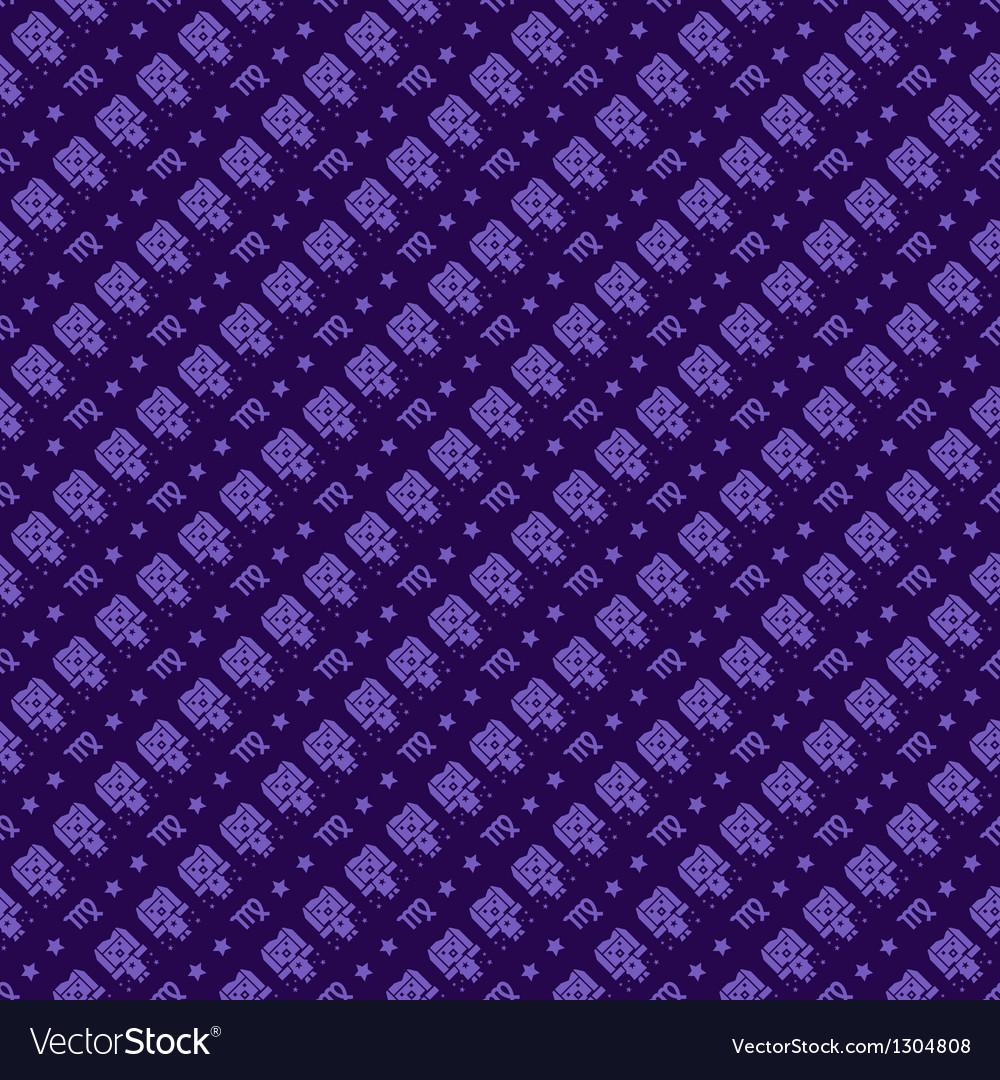 Virgo constellation pattern design zodiac pattern vector | Price: 1 Credit (USD $1)