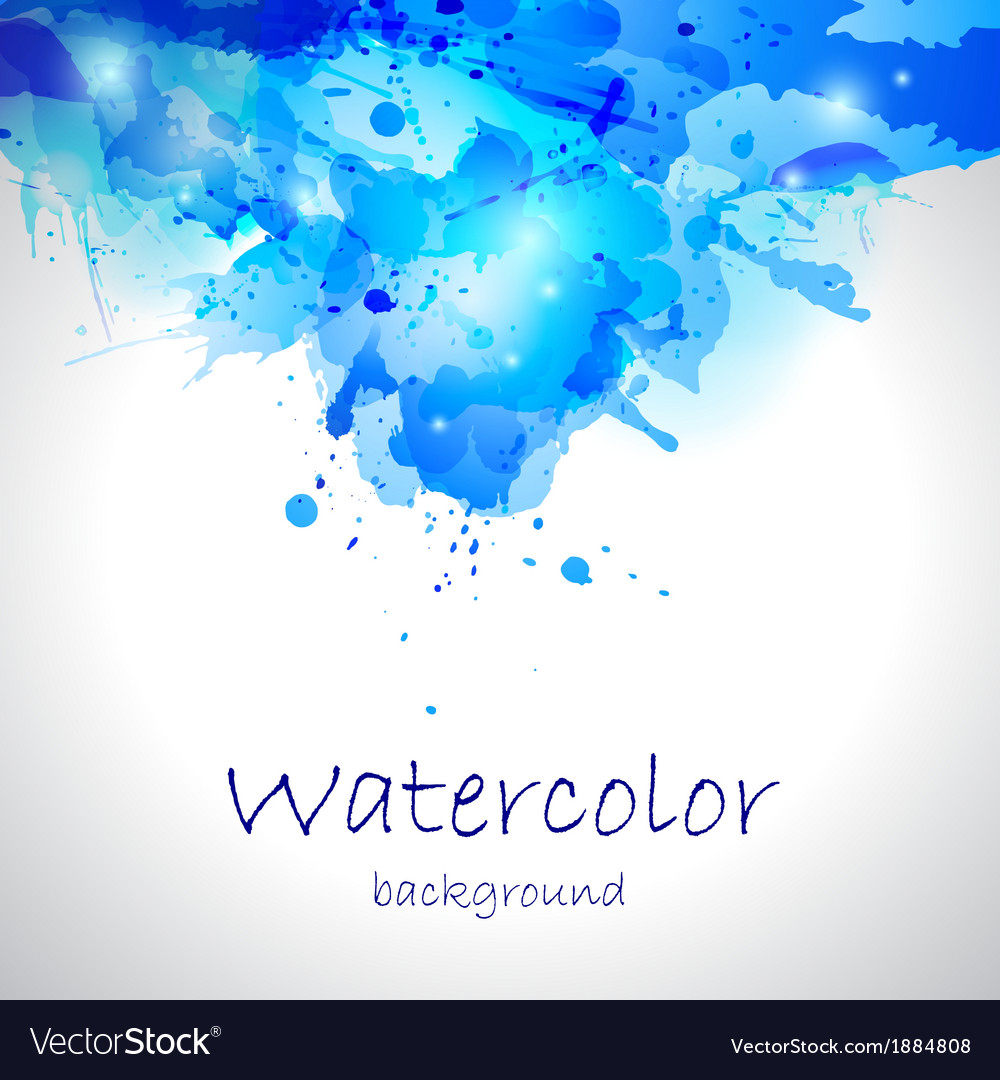 Watercolor blue blot background vector | Price: 1 Credit (USD $1)