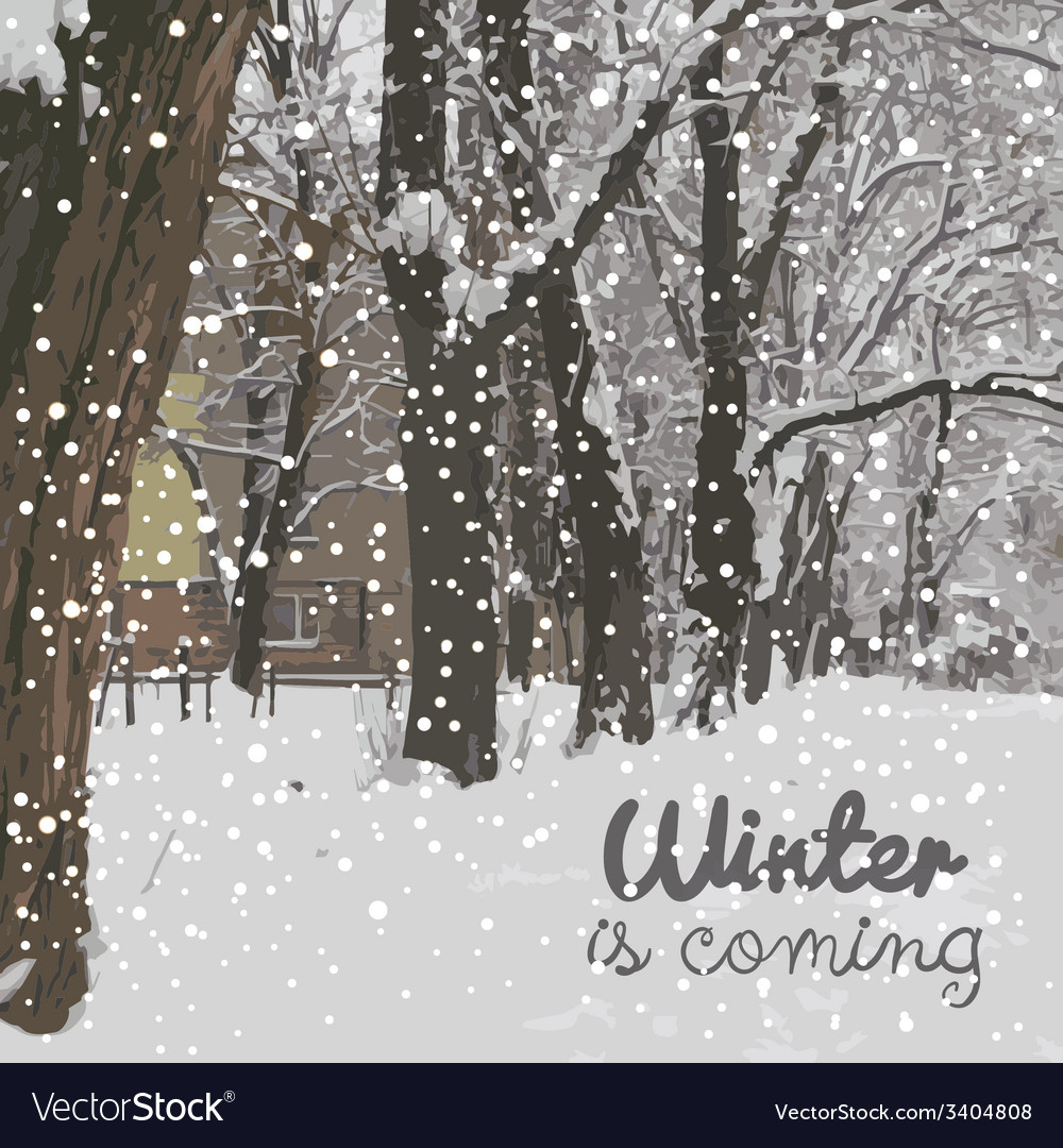 Winter is coming winter background vector | Price: 1 Credit (USD $1)