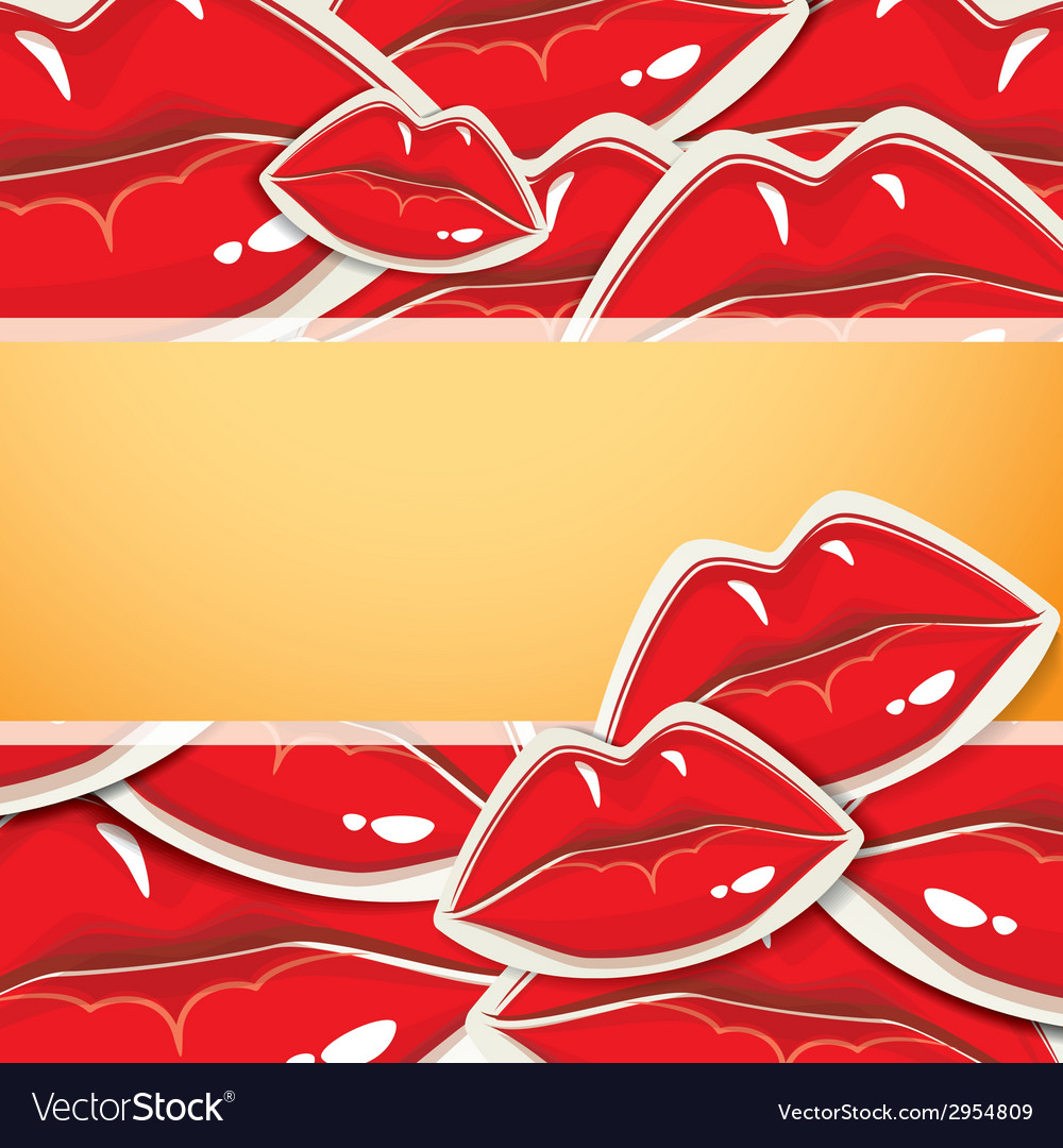 Background with lips vector | Price: 1 Credit (USD $1)