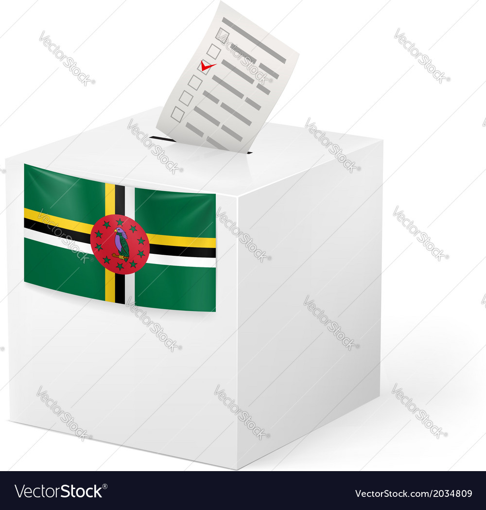 Ballot box with voting paper dominica vector | Price: 1 Credit (USD $1)