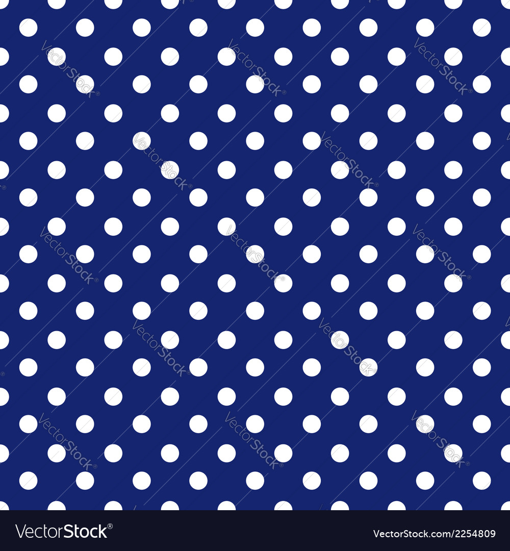 Blue background polka fabric with white dots vector | Price: 1 Credit (USD $1)