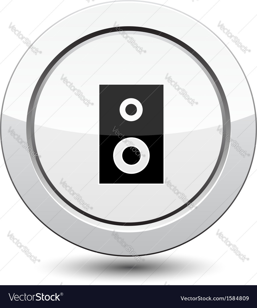 Button with music column vector | Price: 1 Credit (USD $1)
