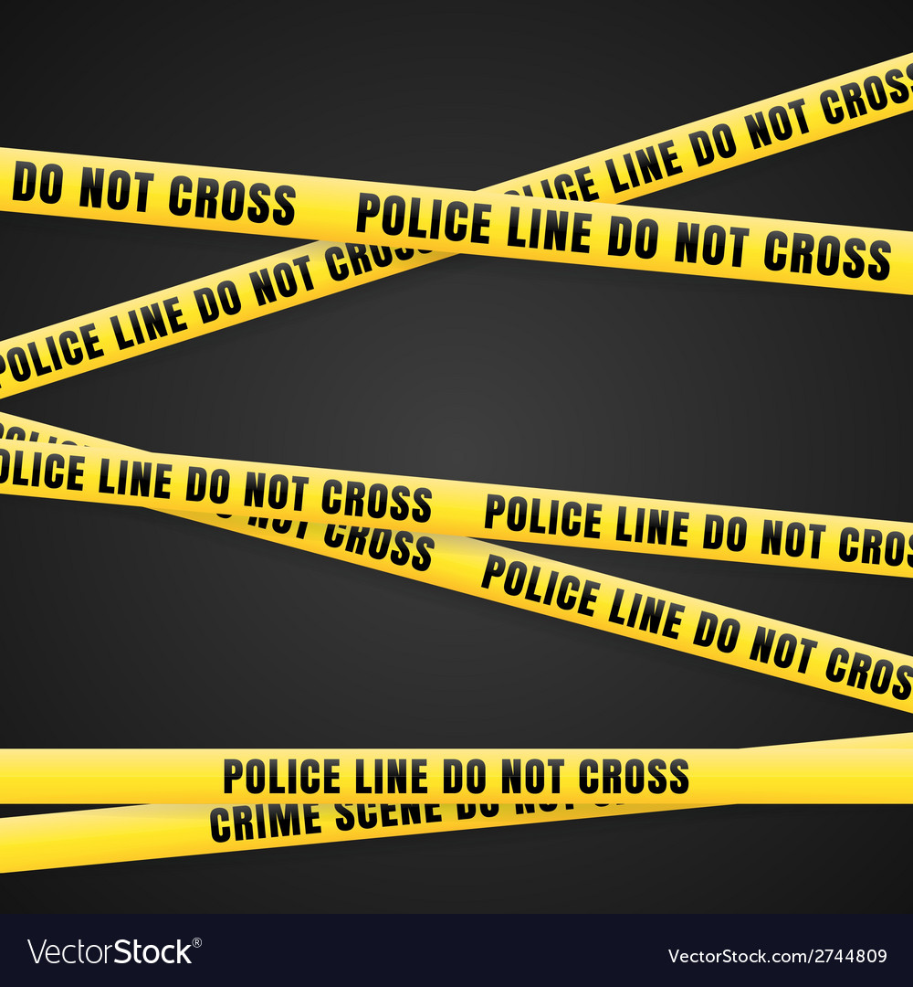 Criminal scene yellow line vector | Price: 1 Credit (USD $1)