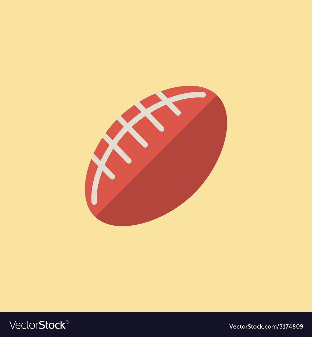 Football ball icon vector | Price: 1 Credit (USD $1)