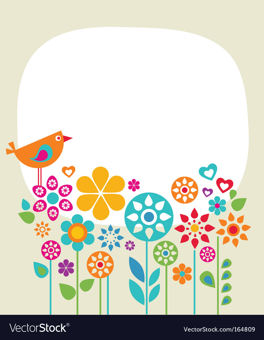 Garden banner vector | Price: 1 Credit (USD $1)