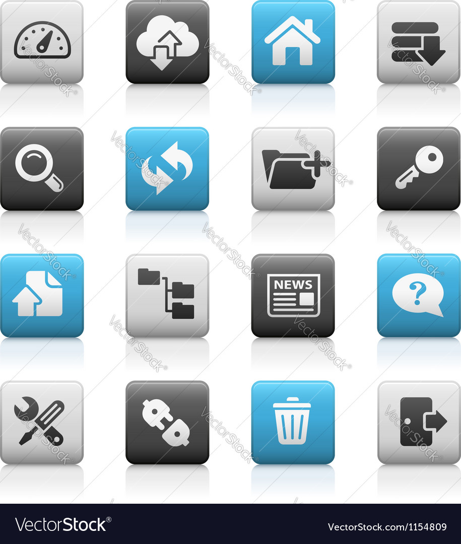 Hosting icons matte series vector | Price: 1 Credit (USD $1)