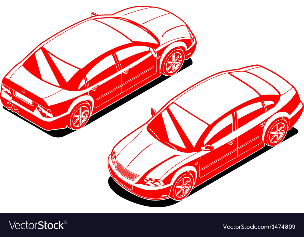 Isometric image of a car vector | Price: 1 Credit (USD $1)