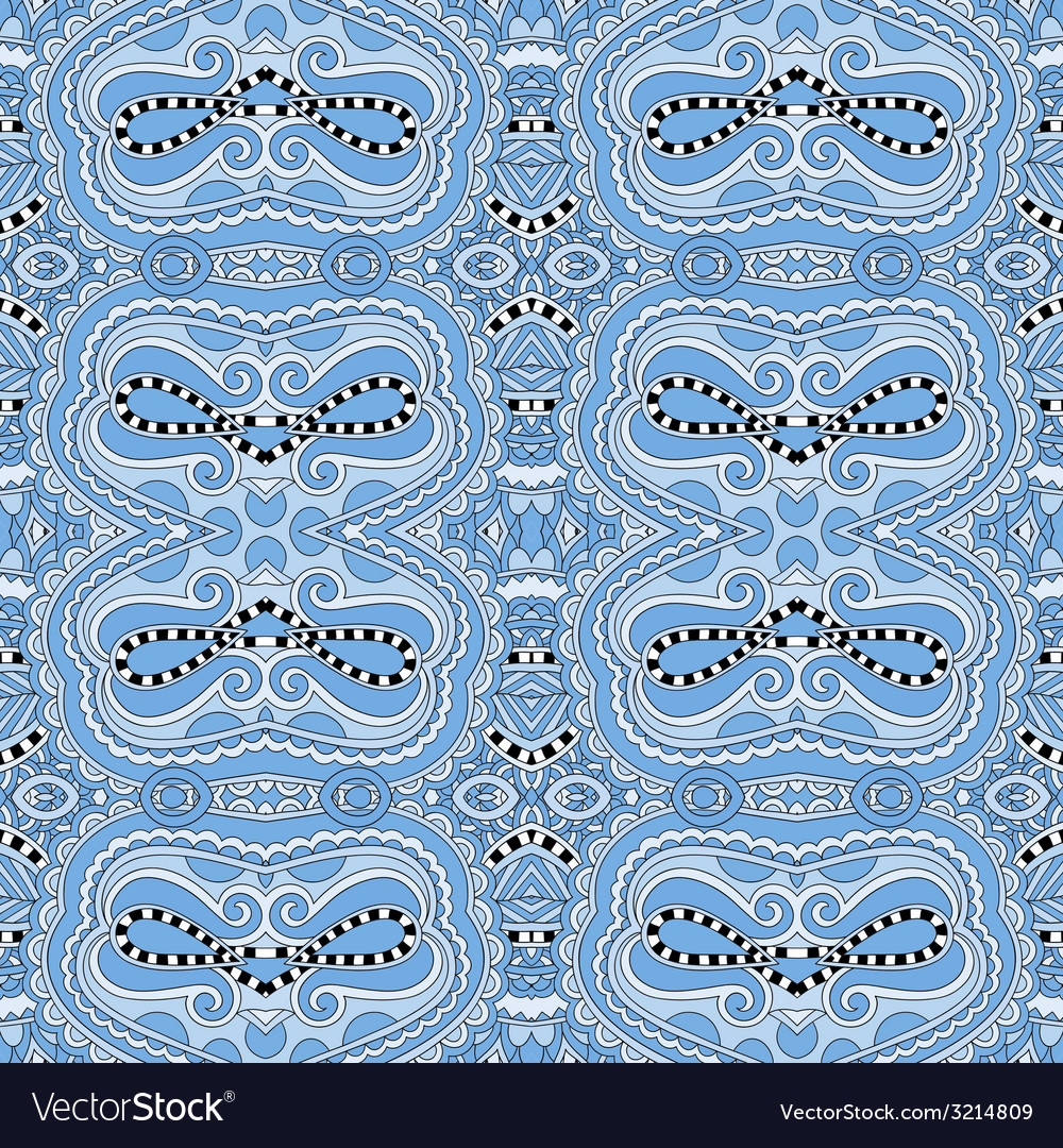 Seamless geometry vintage pattern blue colour vector | Price: 1 Credit (USD $1)