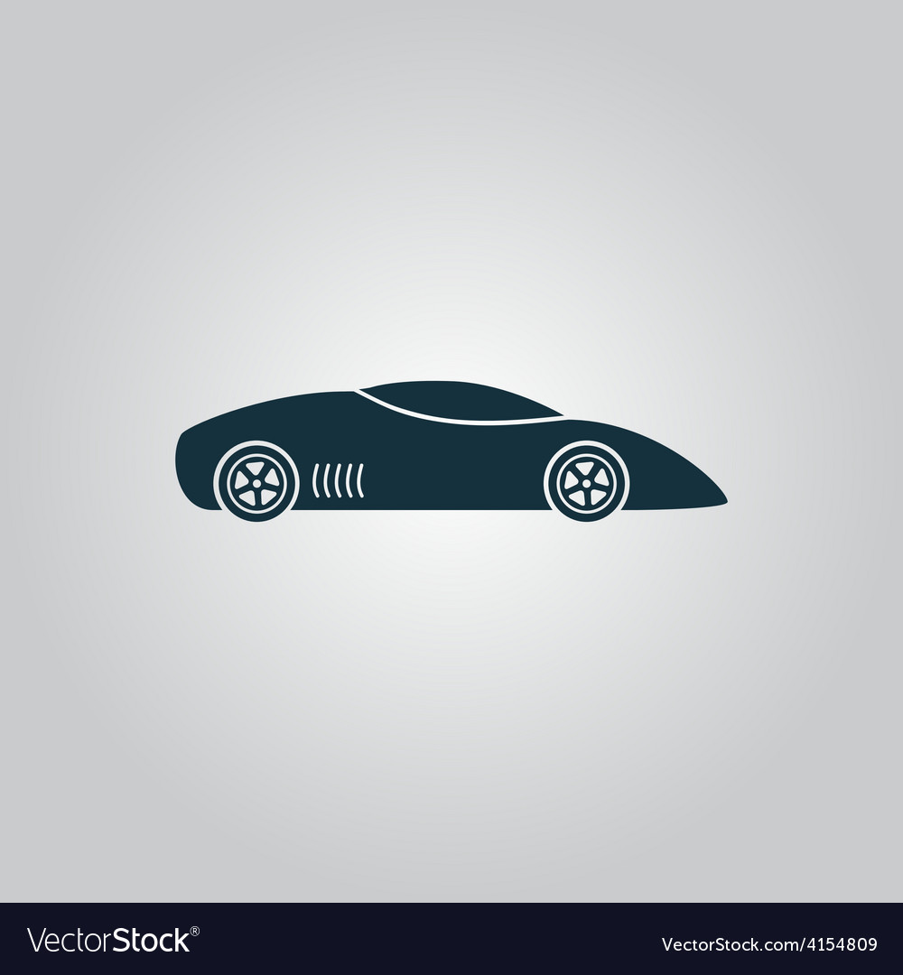 Silhouette of sport car for racing sports vector | Price: 1 Credit (USD $1)