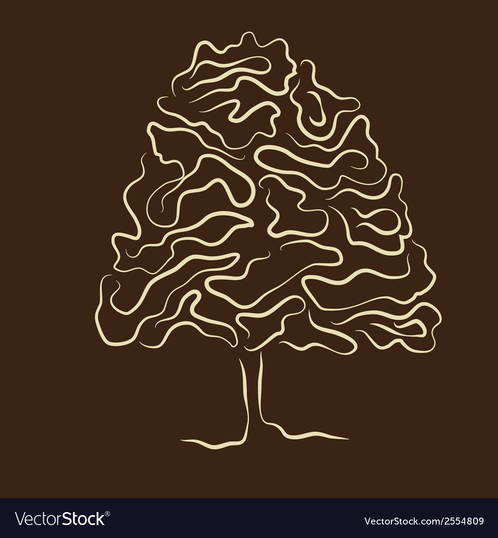 Stylized tree silhouette vector | Price: 1 Credit (USD $1)