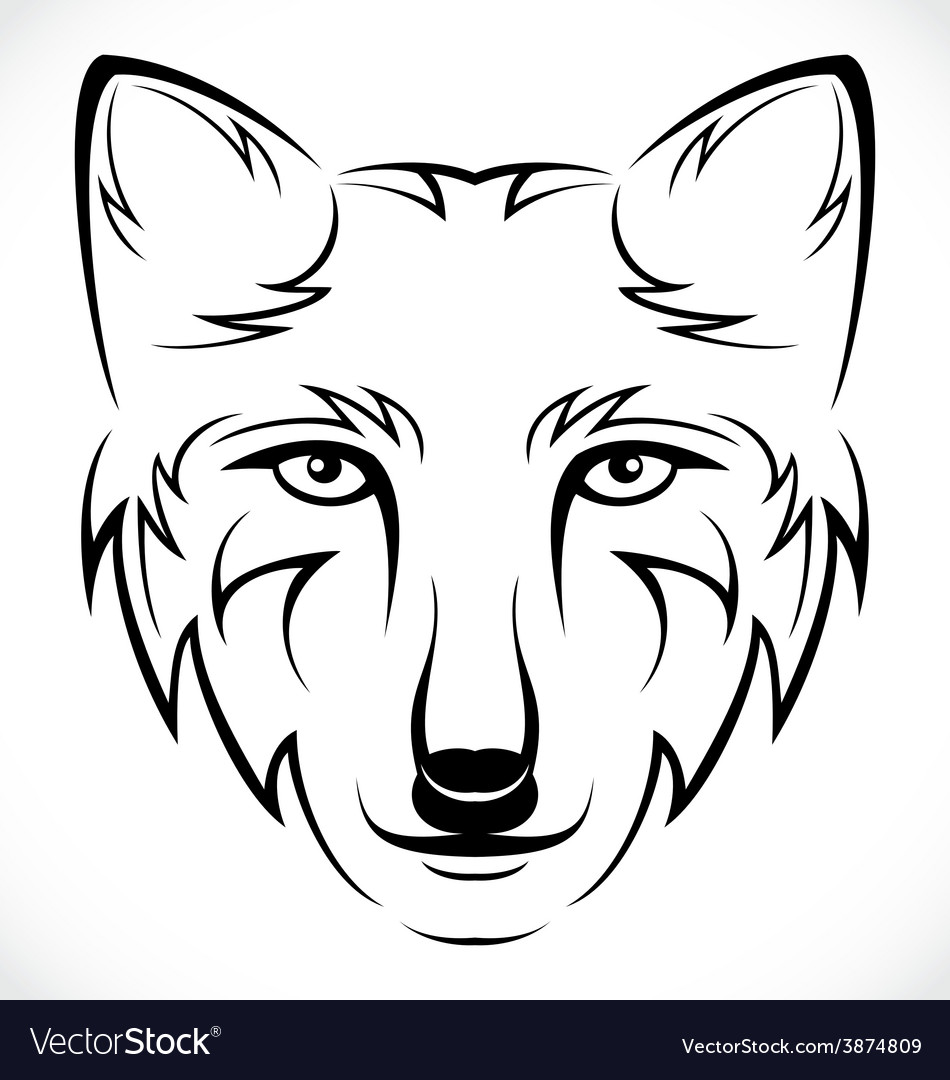 Wolf head tattoo vector | Price: 1 Credit (USD $1)