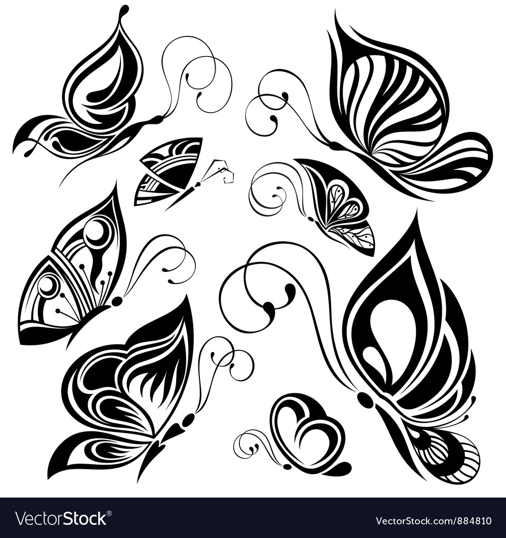 Artistic pattern with butterflies suitable for a vector | Price: 1 Credit (USD $1)