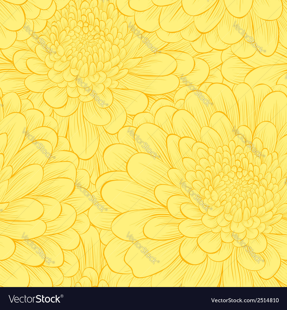 Beautiful seamless pattern with hand-drawn flowers vector | Price: 1 Credit (USD $1)
