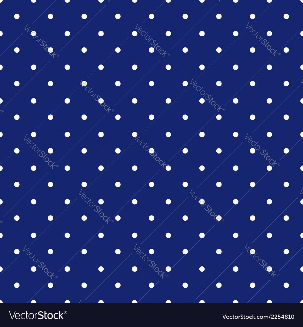 Blue background polka fabric with white little vector | Price: 1 Credit (USD $1)