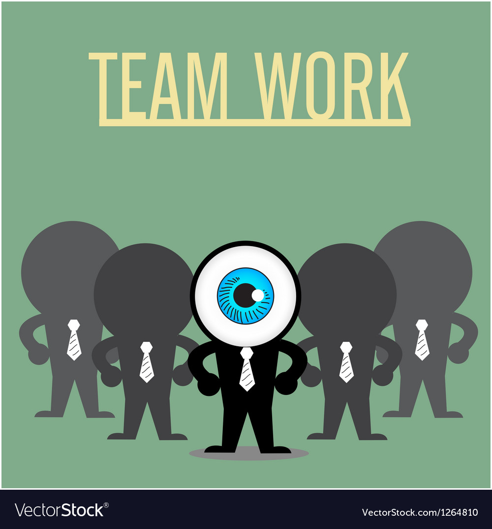 The blue eye leadership with teamwork vector | Price: 1 Credit (USD $1)