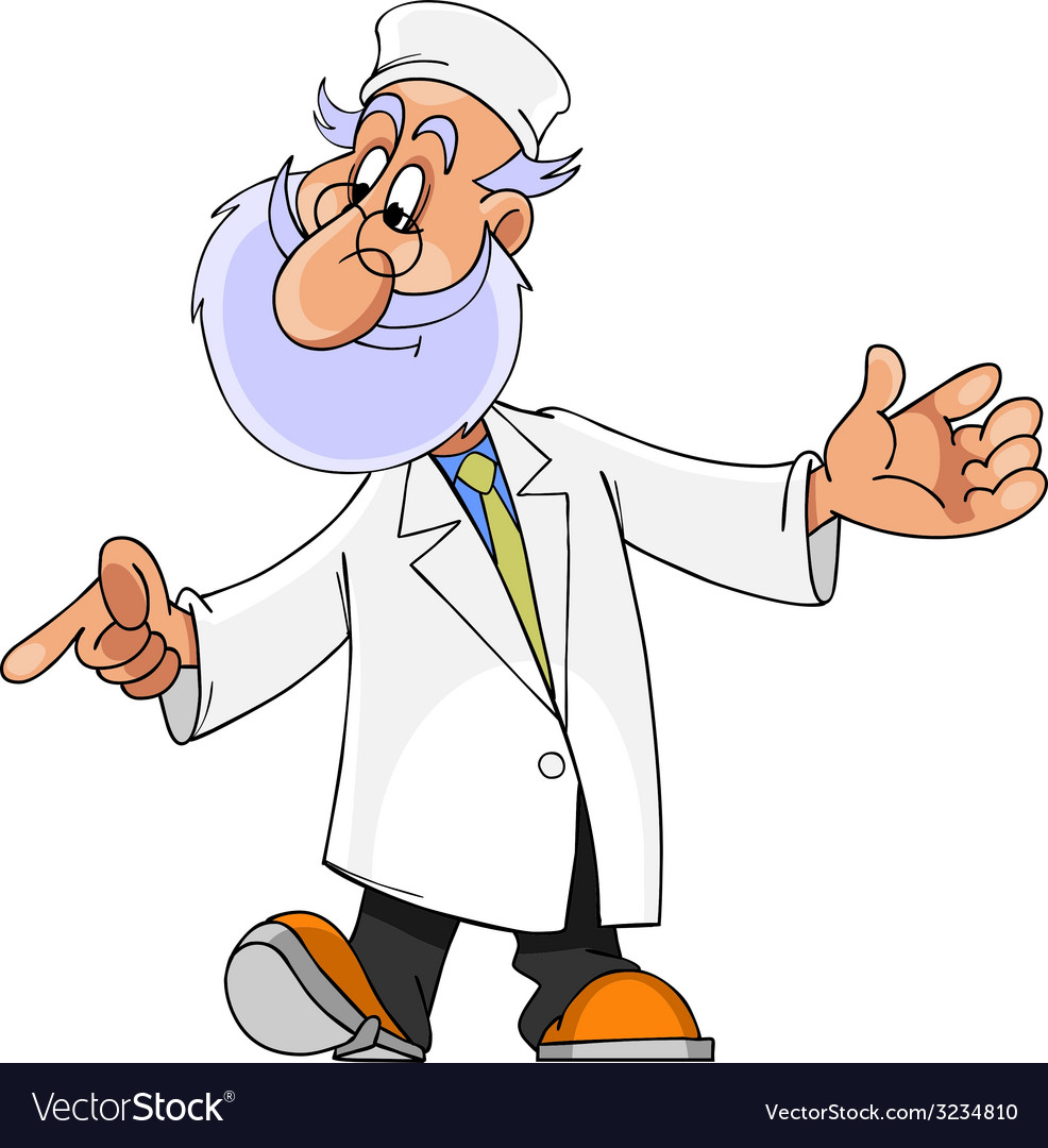 Cartoon character man with a beard doctor vector | Price: 1 Credit (USD $1)