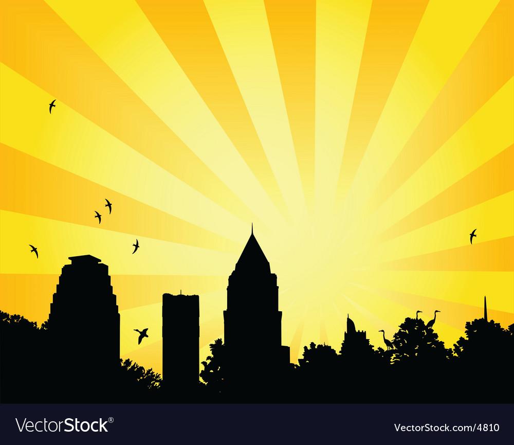 City park sun vector | Price: 1 Credit (USD $1)