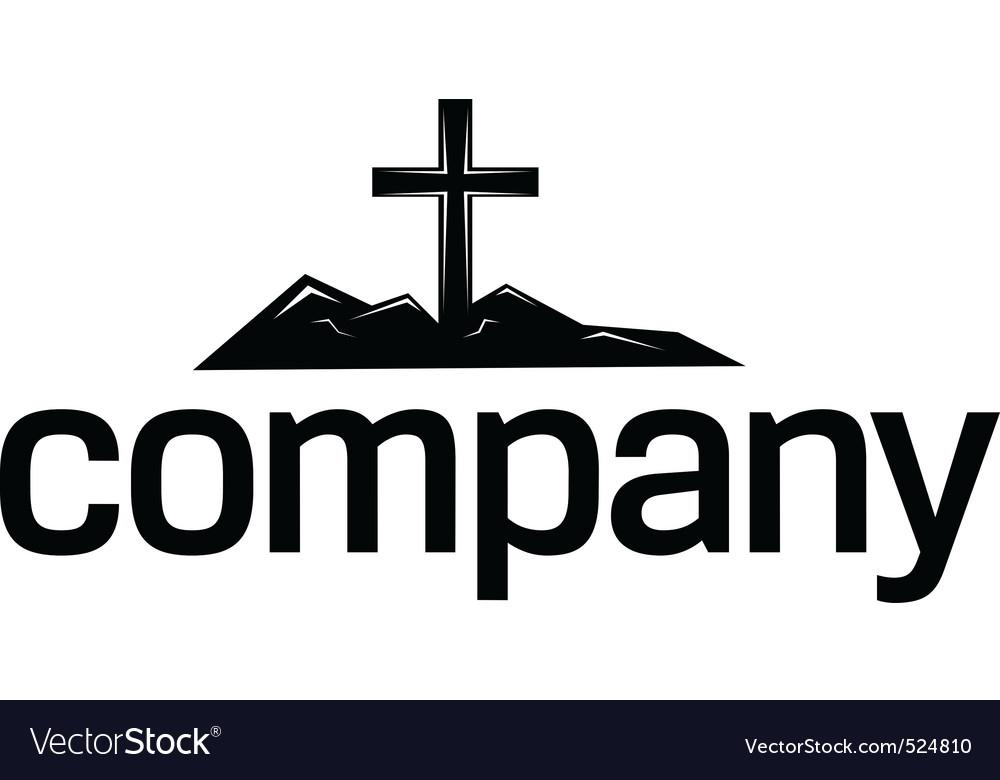 Cross silhouette logo vector | Price: 1 Credit (USD $1)