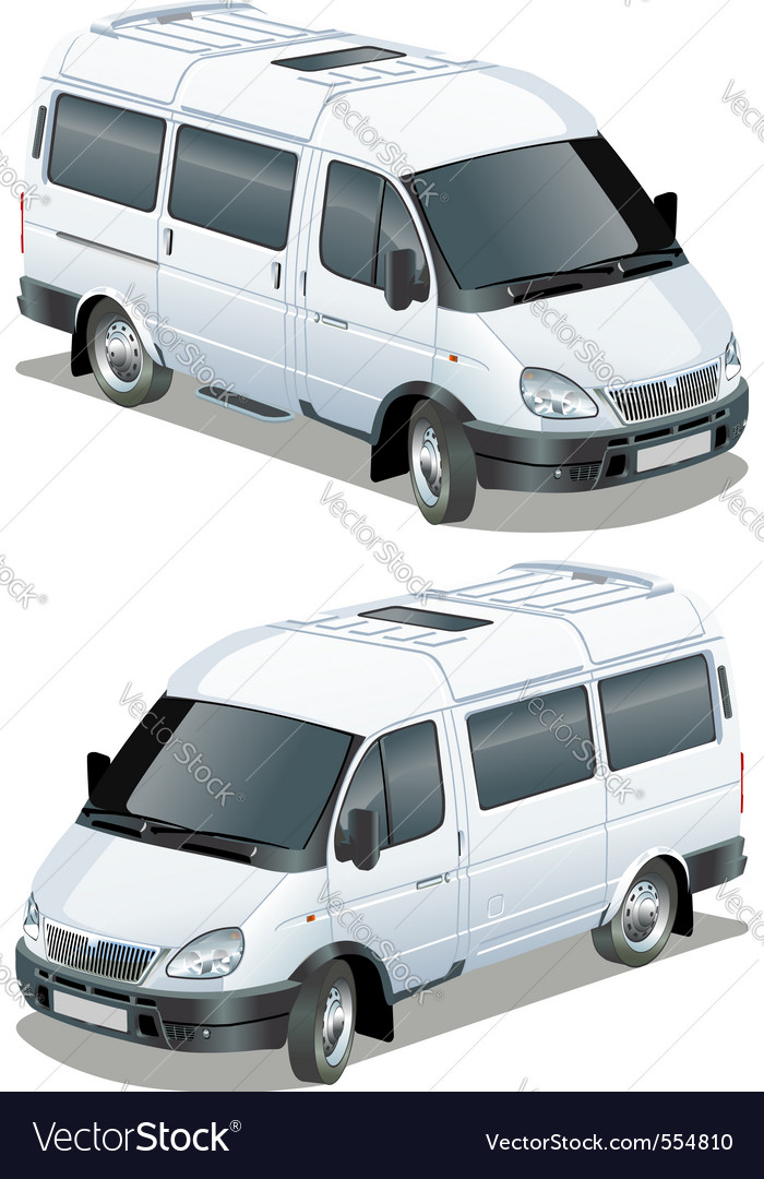 Delivery cargo van vector | Price: 3 Credit (USD $3)