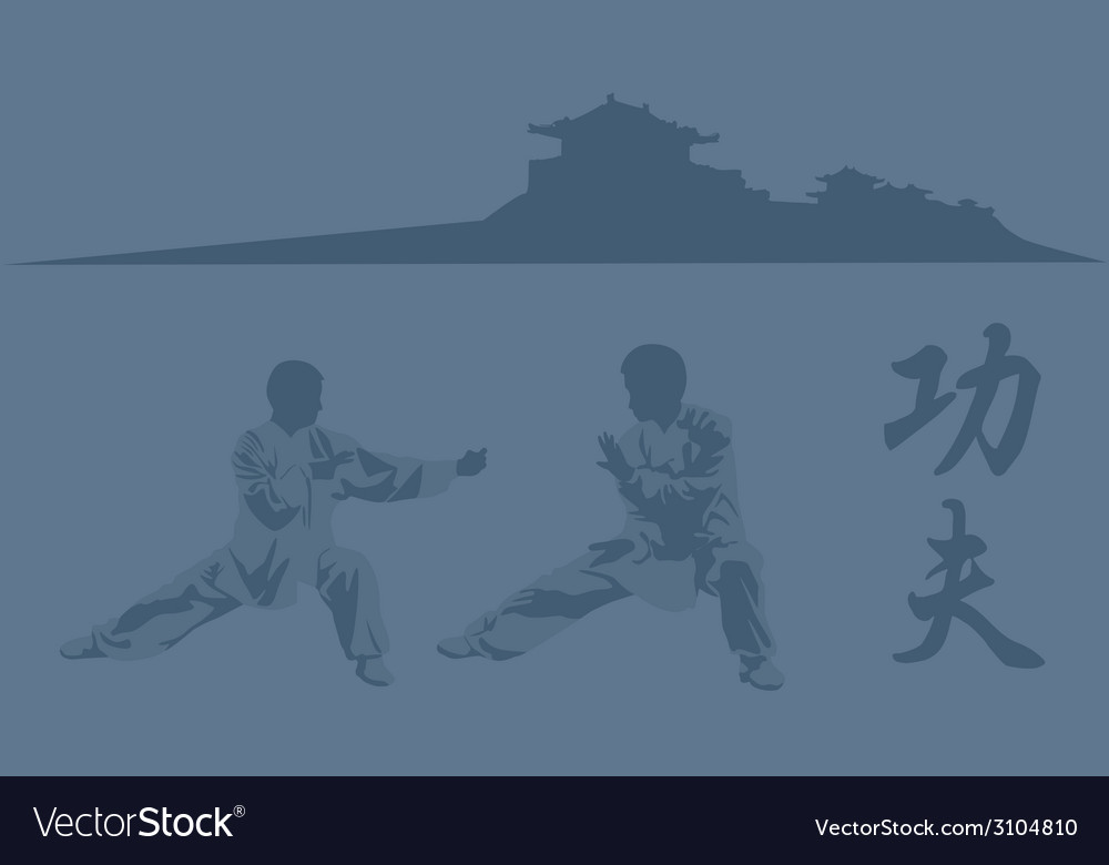 Fighting art of kung fu vector | Price: 1 Credit (USD $1)
