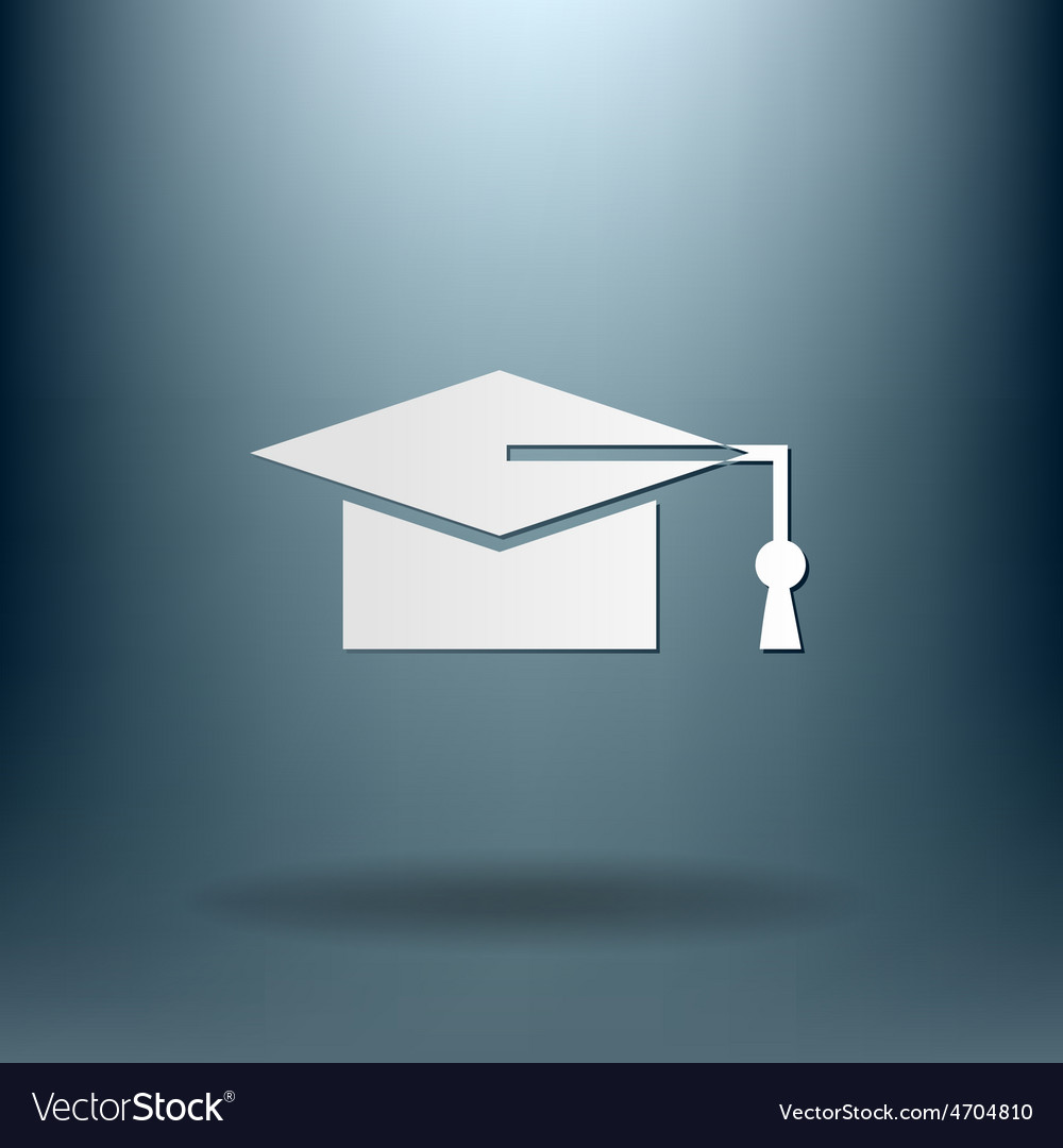 Graduate hat education sign vector | Price: 1 Credit (USD $1)