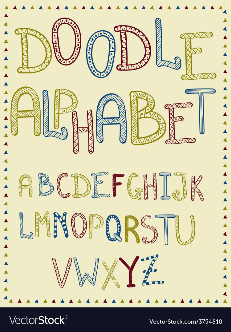 Hand drawn doodle letters vector | Price: 1 Credit (USD $1)