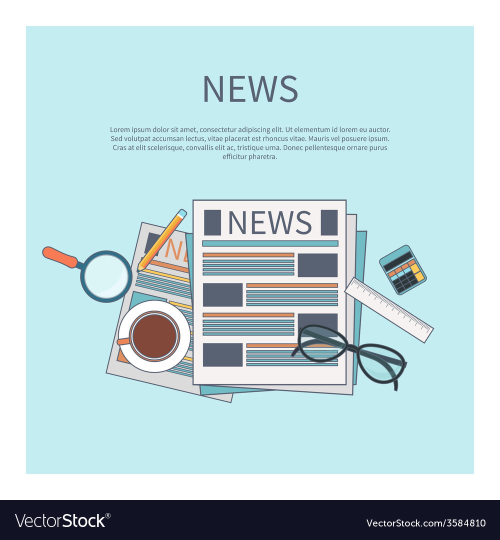 Magnifying glass with daily newspaper vector | Price: 1 Credit (USD $1)