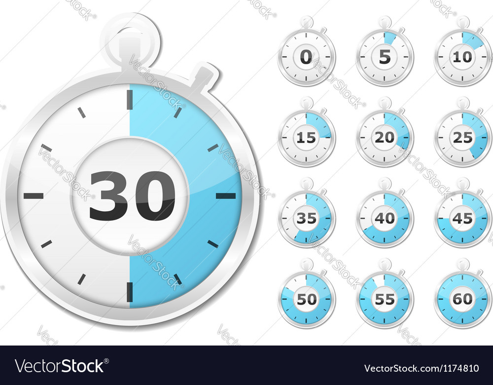 Paper timers vector | Price: 3 Credit (USD $3)