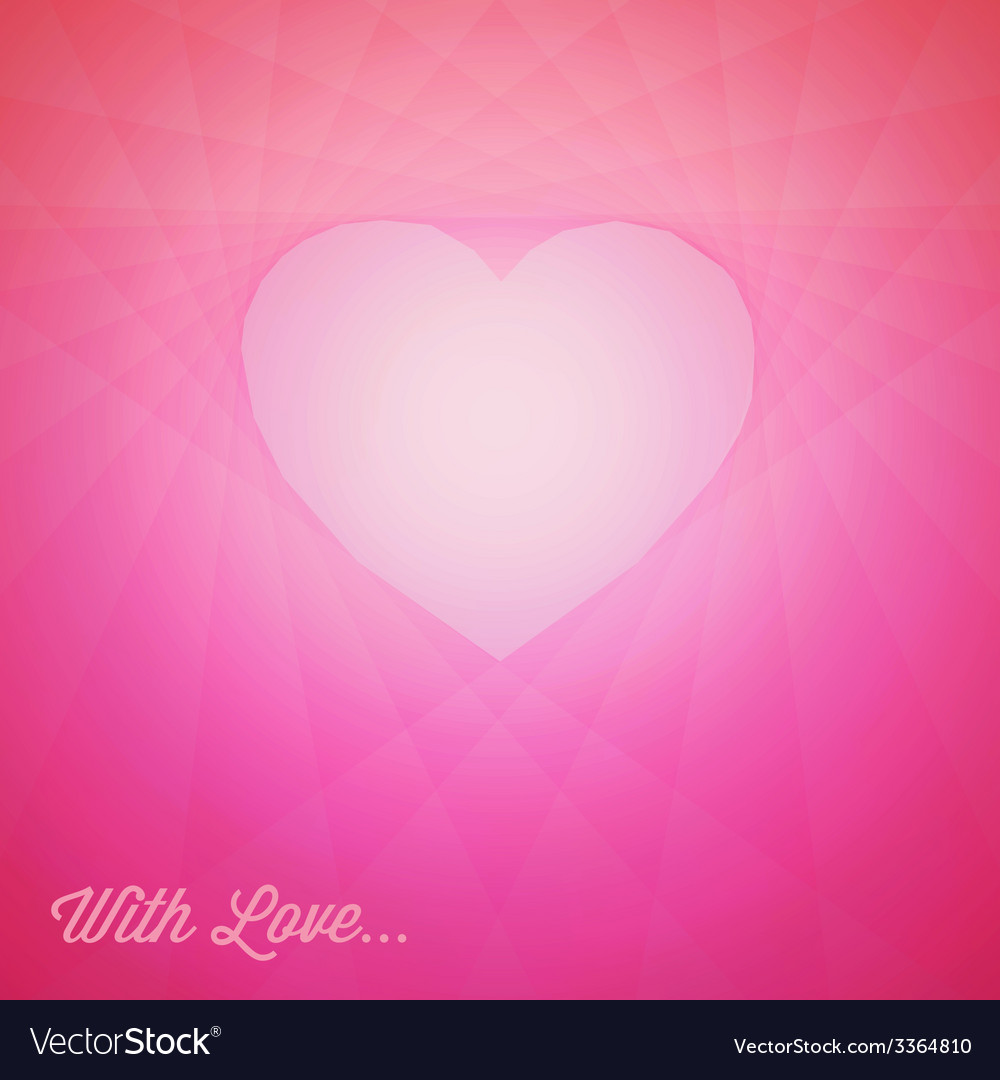 Red heart - valentines card vector | Price: 1 Credit (USD $1)