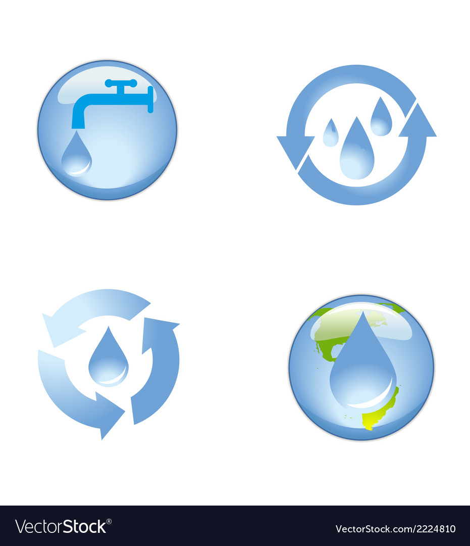 Source water protection icon symbol vector | Price: 1 Credit (USD $1)