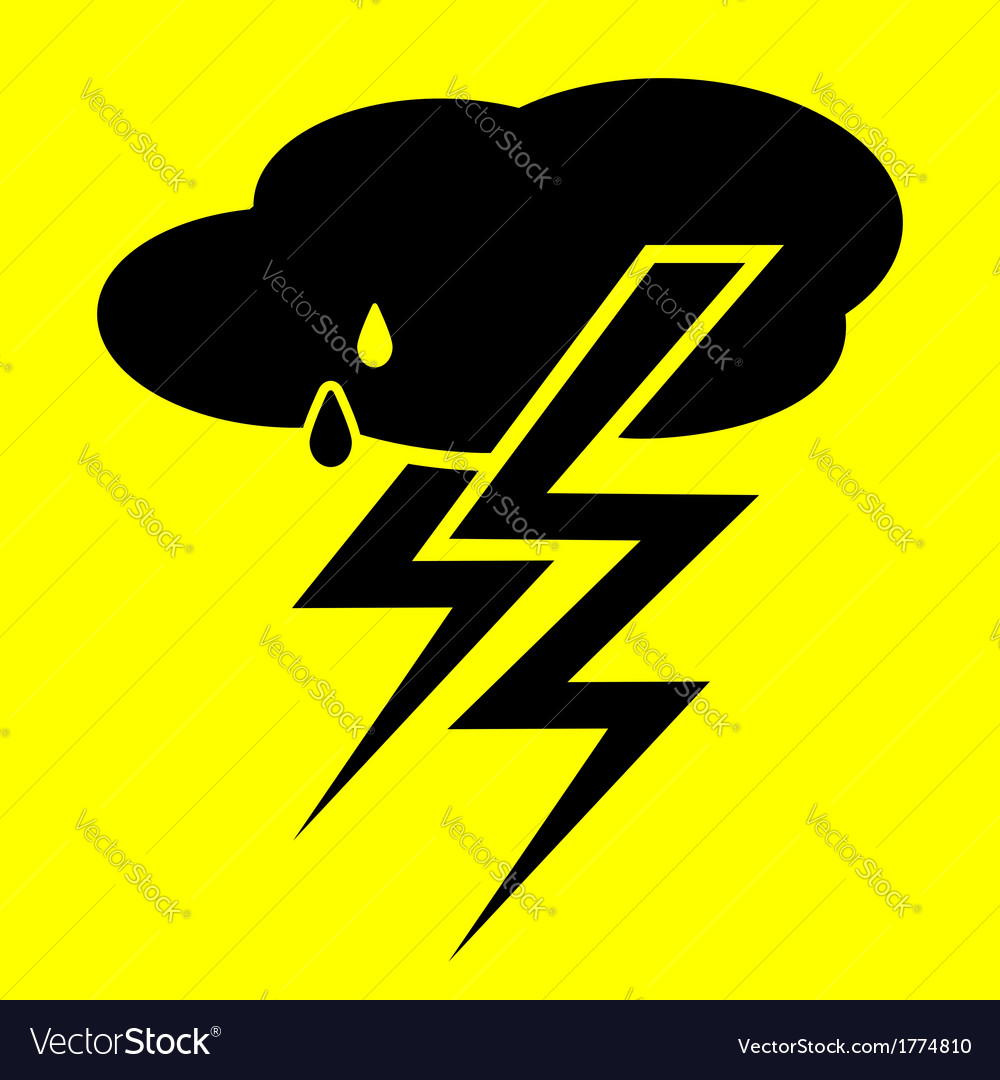 Symbol thunderstorm vector | Price: 1 Credit (USD $1)
