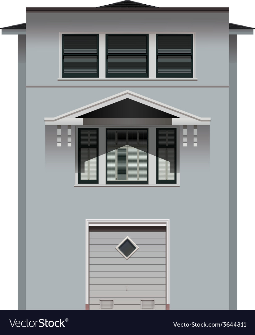 A tall grey building vector | Price: 1 Credit (USD $1)