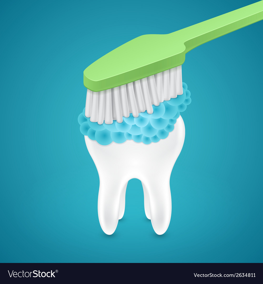 Brushing your teeth with toothpaste vector | Price: 1 Credit (USD $1)