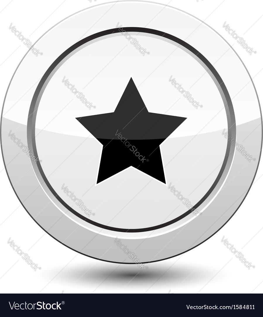 Button with star icon vector   Price: 1 Credit (USD $1)
