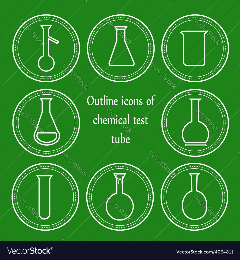 Chemical outline test tube vector | Price: 1 Credit (USD $1)