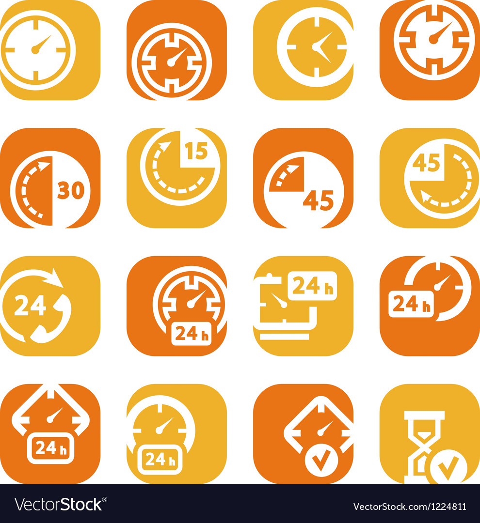 Color time icons vector | Price: 1 Credit (USD $1)