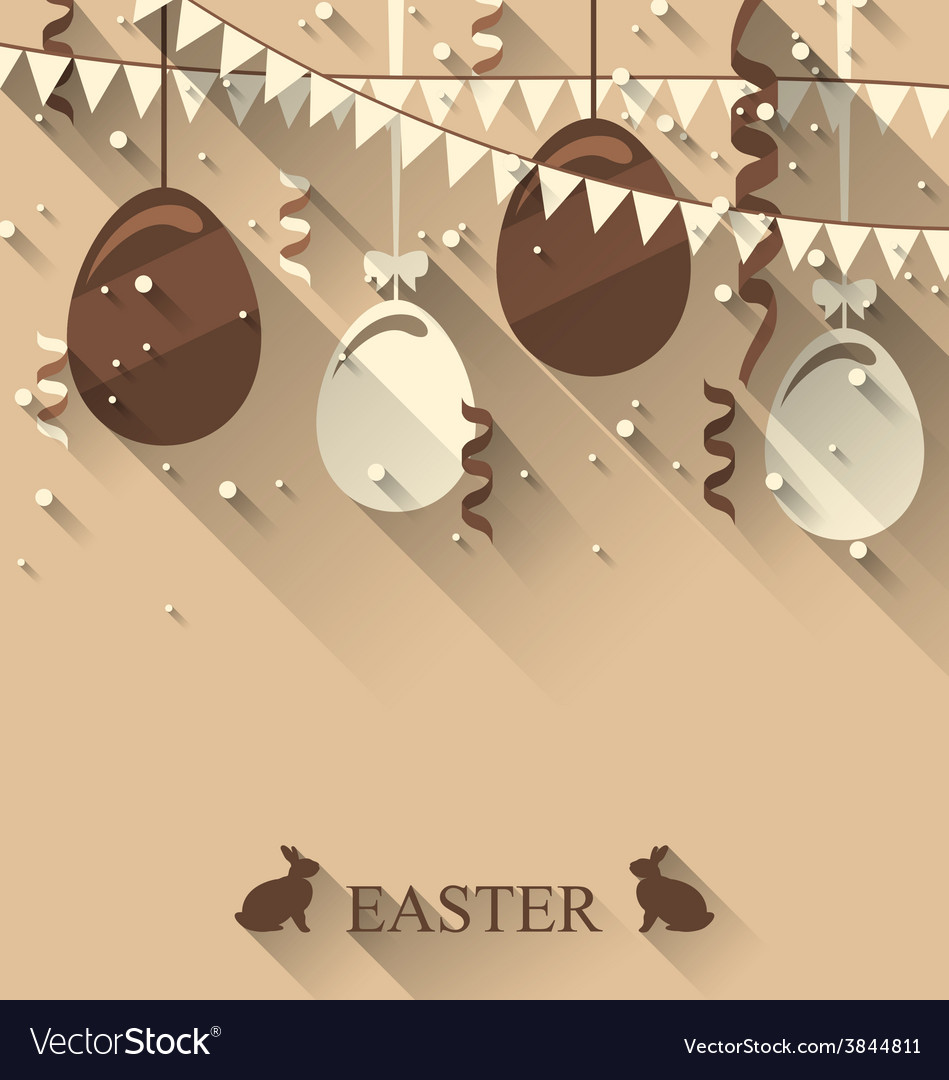 Easter background with chocolate eggs serpentine vector | Price: 1 Credit (USD $1)