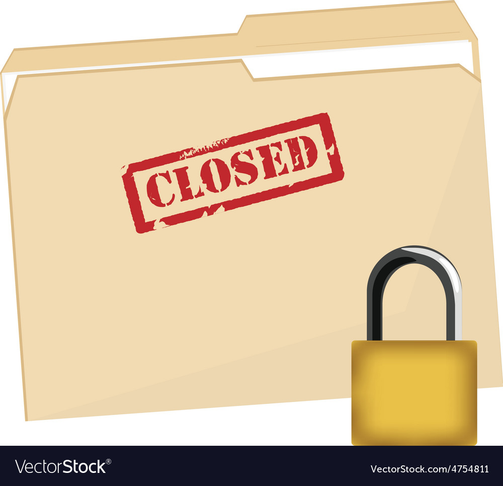 File folder and lock vector | Price: 1 Credit (USD $1)