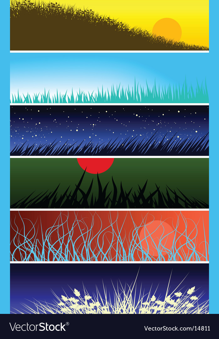 Grassy banners vector | Price: 1 Credit (USD $1)
