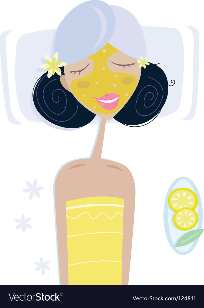 Health spa girl vector | Price: 1 Credit (USD $1)