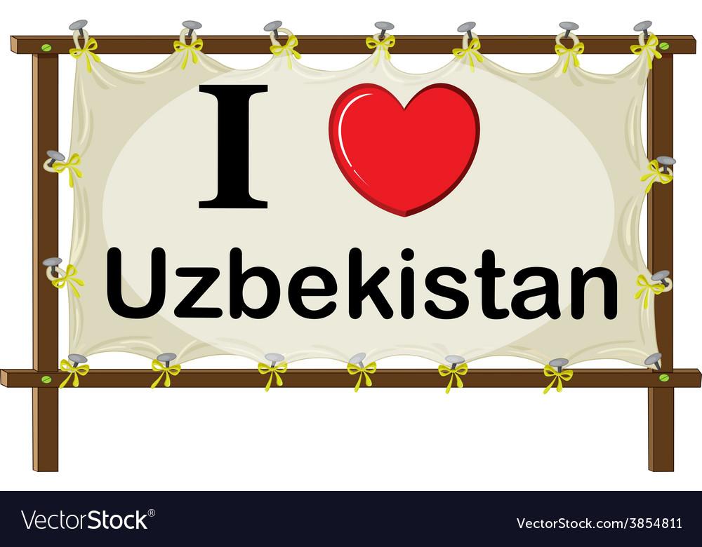 I love uzbekistan vector | Price: 1 Credit (USD $1)