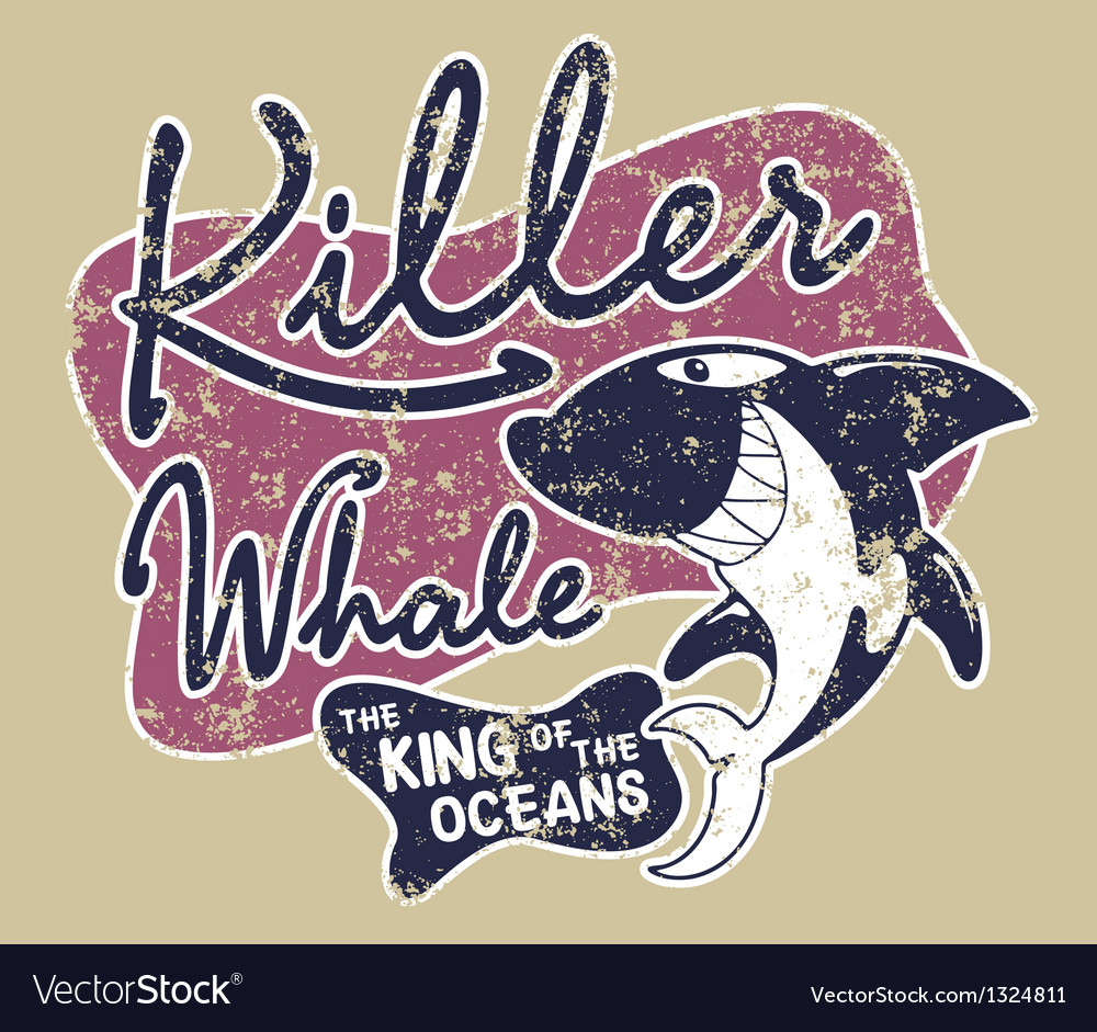 Killer whale badge vector | Price: 1 Credit (USD $1)