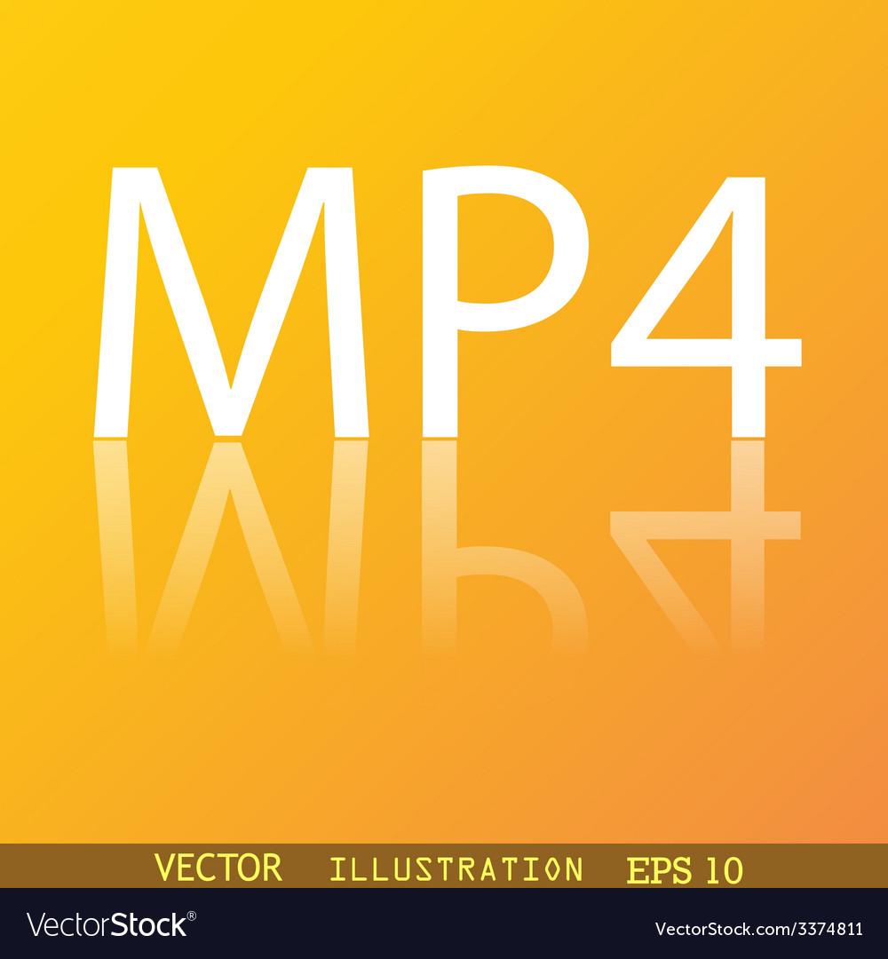 Mpeg4 video format icon symbol flat modern web vector | Price: 1 Credit (USD $1)
